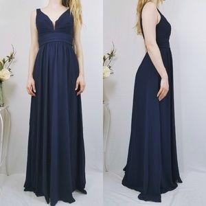Leading Role Navy Blue Lulus Maxi Formal Dress